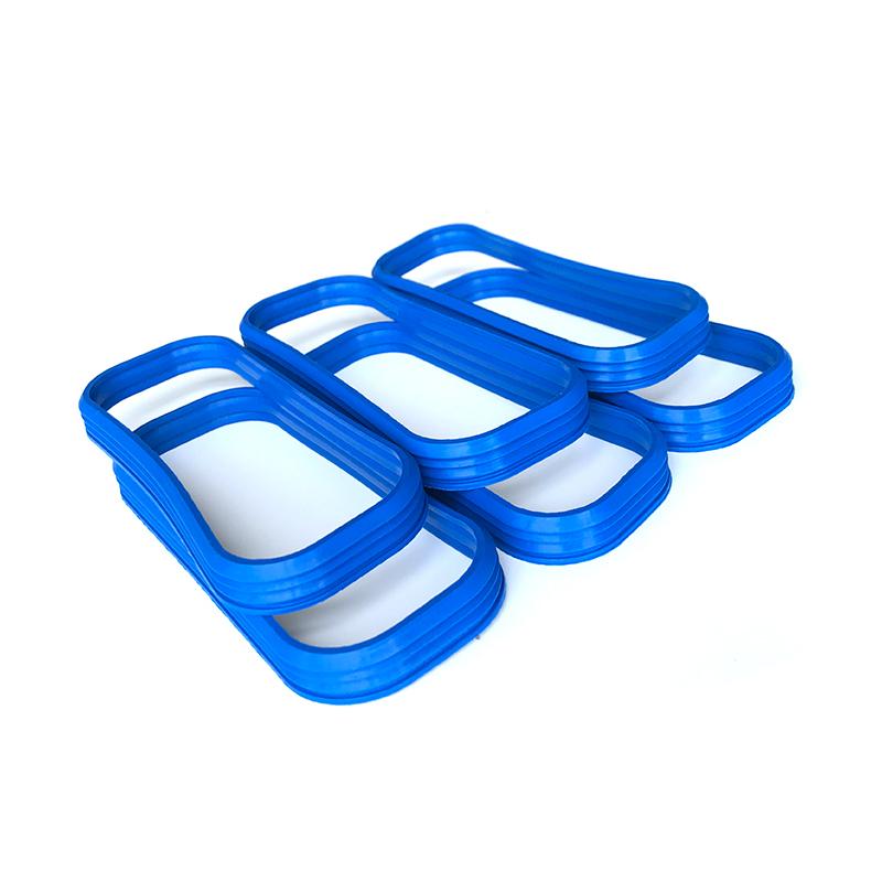 矩形波纹锯齿蓝色阻燃硅胶垫片